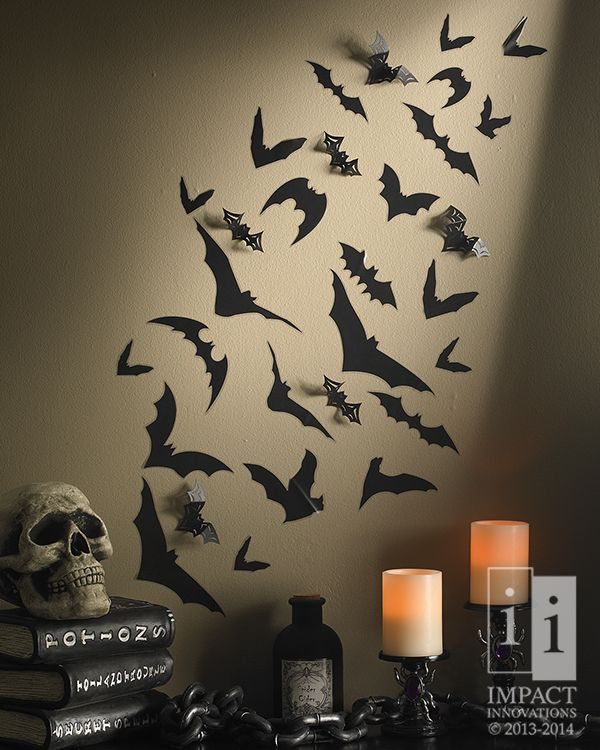 Wall Art Bat Our Flock Of Bats Create Fun Movement On Your For Party Decor