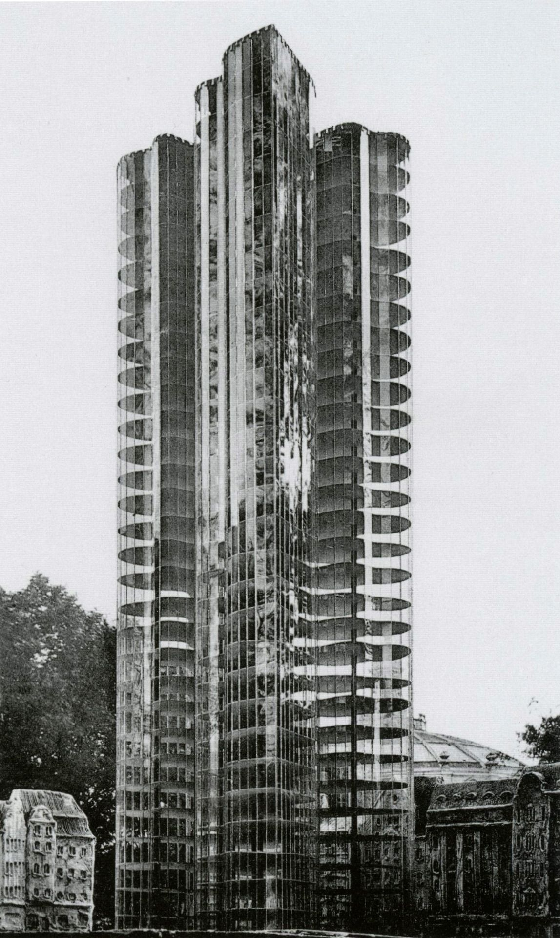 Mies Van Der Rohe, Model For U201cSecond Scheme For A Glass Skyscraperu201d  (Unbuilt), (1922)