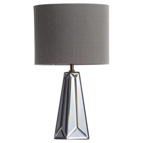Tesco direct gatsby mirror glass table lamp pewter