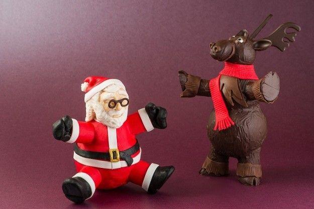Babbo natale e una renna: divertenti decorazioni di cioccolato per questo Natale 2012