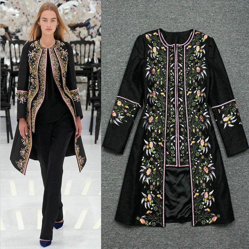 730503ee6e 2014 new women winter fashion brand high end runway vintage slim ...