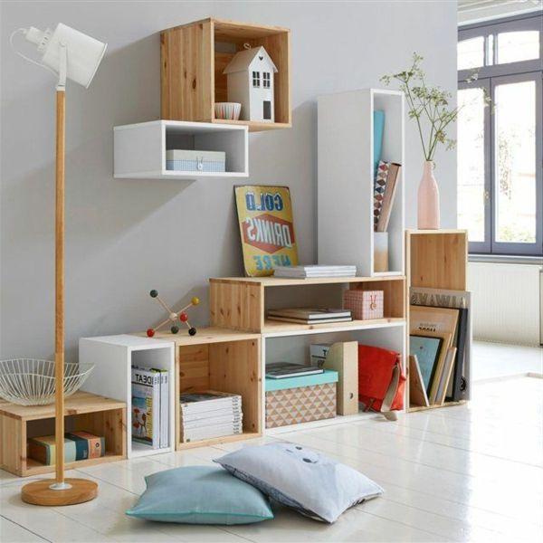 Les Etageres Cubes Comme Mobiliers Pratiques Et Comme Decoration Archzine Fr Home Decor Home Wall Shelves
