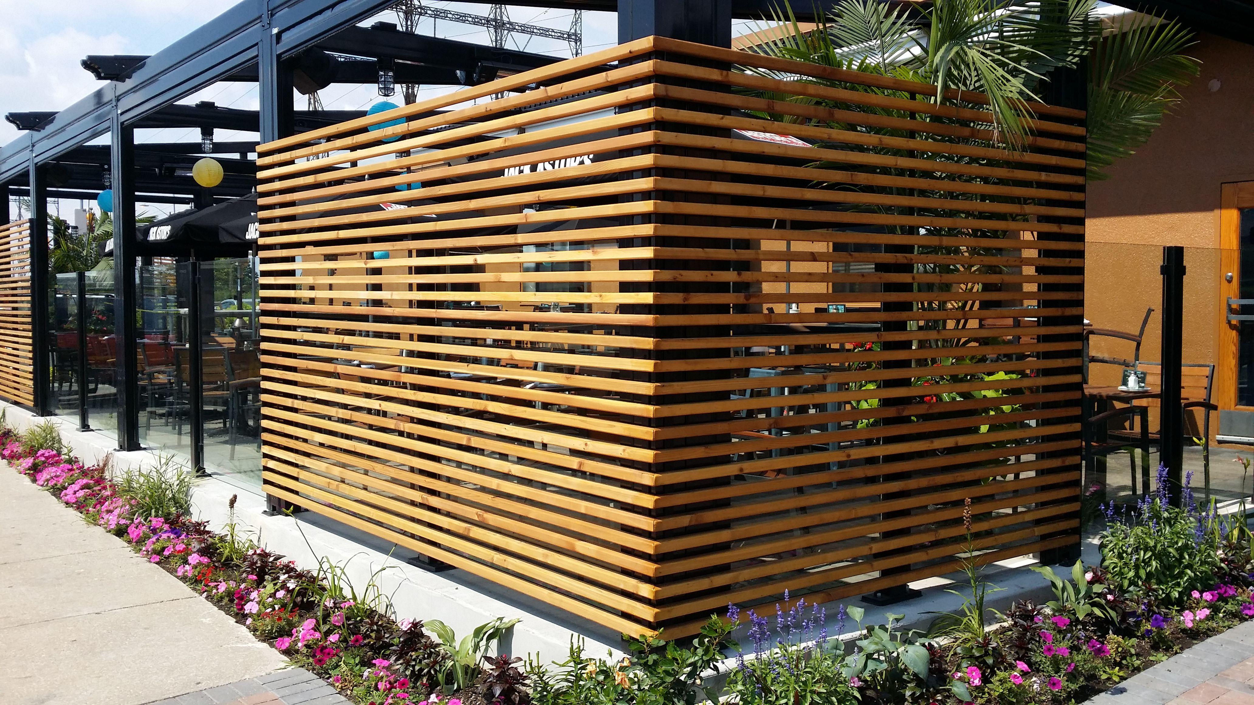Забор для кафе декоративный фото
