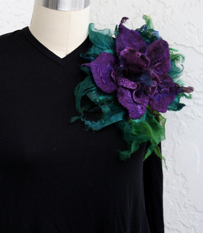 Your Place To Buy And Sell All Things Handmade Felt Jewelry Flower Brooch Natural Silk