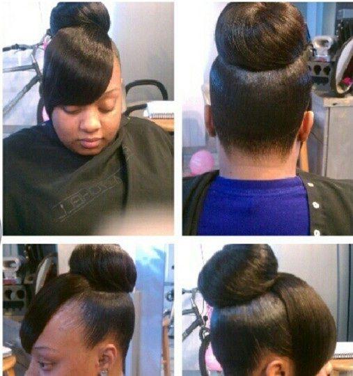 Pin By Sandrine Moukoko On All About Hair Bun Hairstyles Sassy Hair Hair Beauty