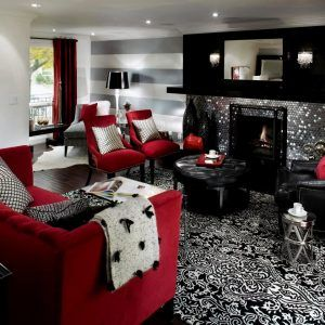 Red Black And Silver Living Room Ideas
