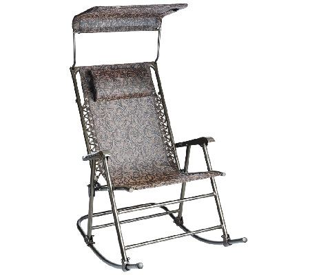 Awe Inspiring Bliss Hammocks Deluxe Foldable Rocking Chair With Sun Shade Squirreltailoven Fun Painted Chair Ideas Images Squirreltailovenorg