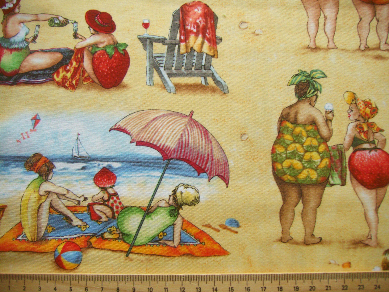 Maritime Stoffe maritime stoffe fruit sand strand patchworkstoff nähen