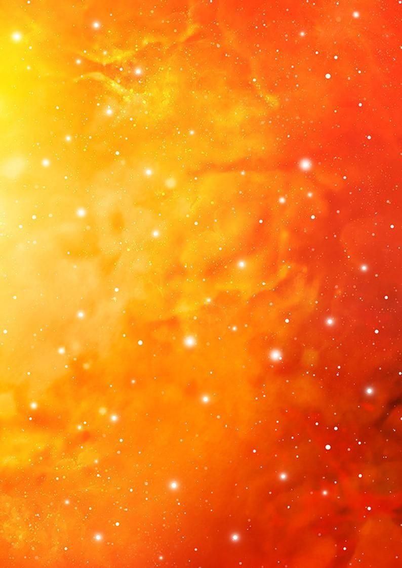 Teal Orange Galaxy Background Scrapbooking Paper Nebula Etsy In 2020 Cosmic Art Galaxy Background Orange Aesthetic