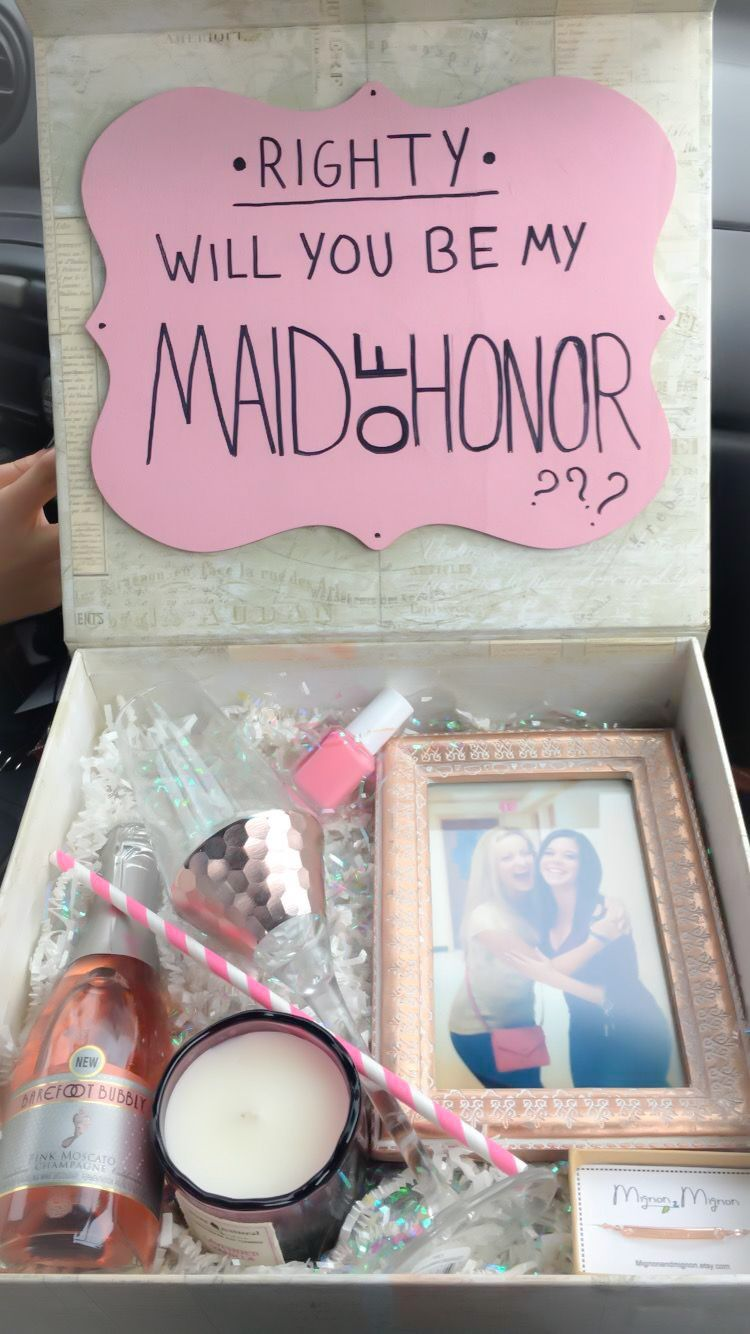 My bestie said yes!! #maidofhonor #bridesmaid #wedding #proposal ...