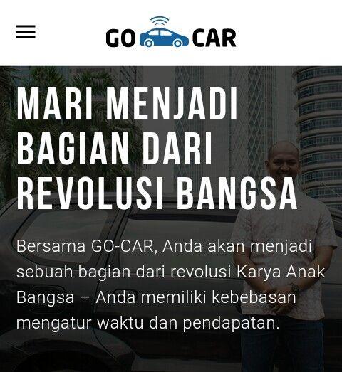 Dibacaonline Cara Daftar Jadi Driver Go Car Revolusi