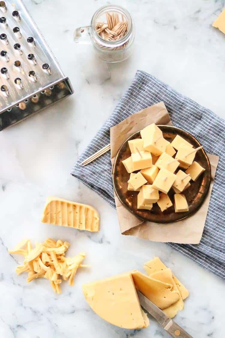 This Firm Vegan Cheddar Cheese Is Flavorful And Tangy It Slices Shreds And Melts And Pairs We Vegan Cheddar Cheese Vegan Cheddar Vegan Cheddar Cheese Recipe