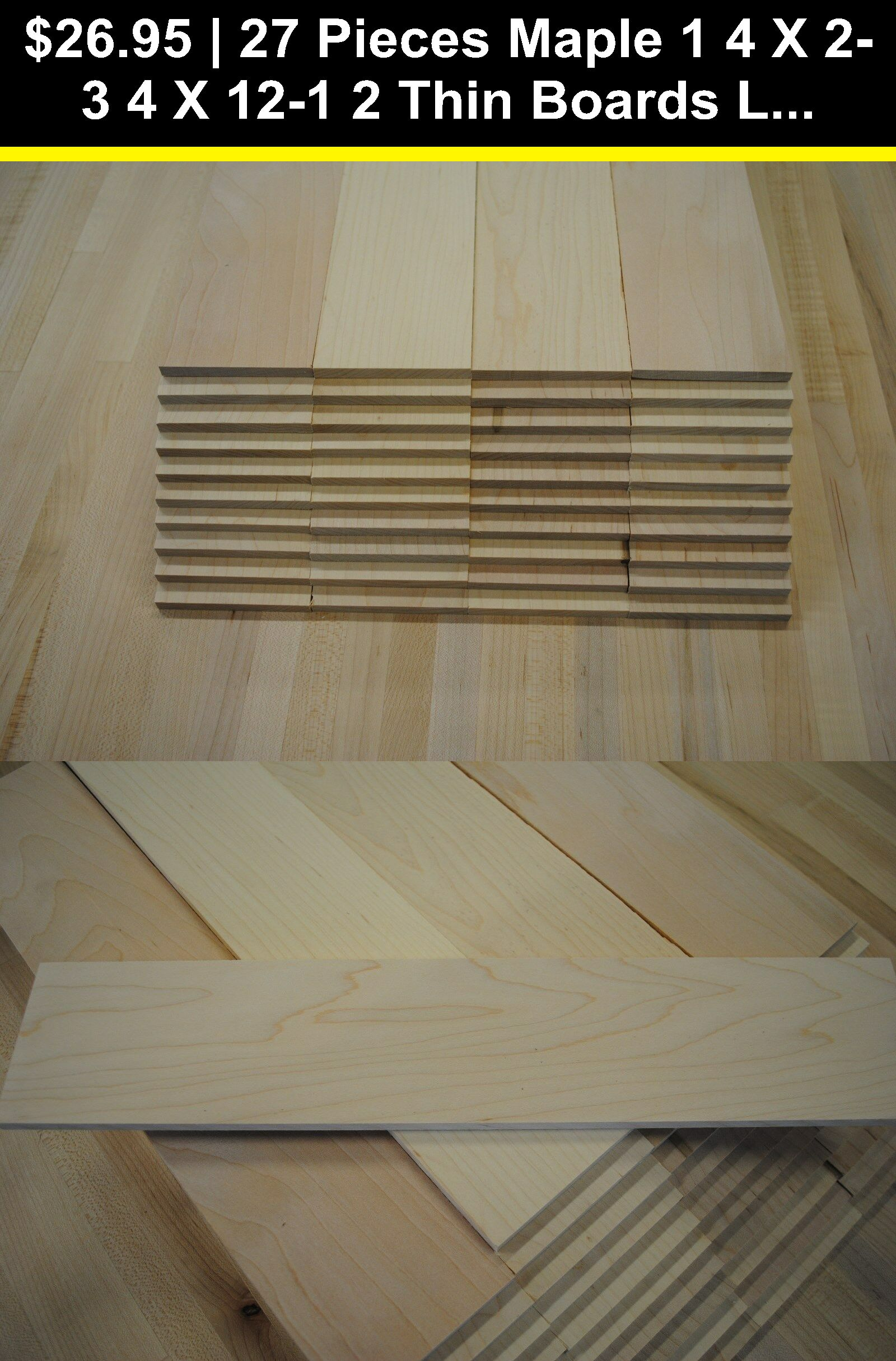 Woodworking Lumber 84011 27 Pieces Maple 1 4 X 2 3 4 X 12 1 2 Thin Boards Lumber Wood Crafts Buy It Now Only 26 95 On Wood Crafts Lumber Diy Knife Handle