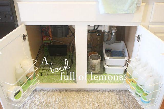 Ideas for organizing under the sink *HOME ~ ORGANIZE UNDER SINK