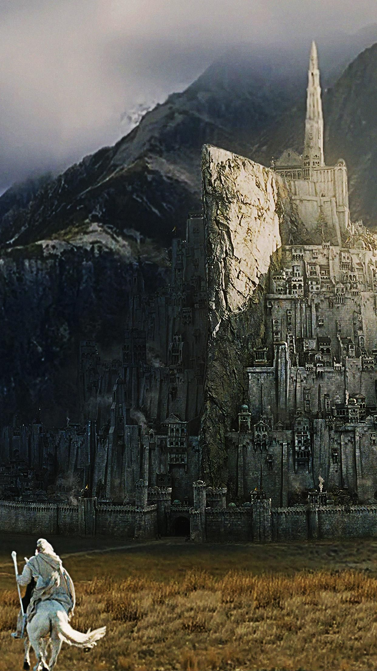 Minas Tirith Lord Of The Ring Art Iphone 6 Plus Wallpaper Lord