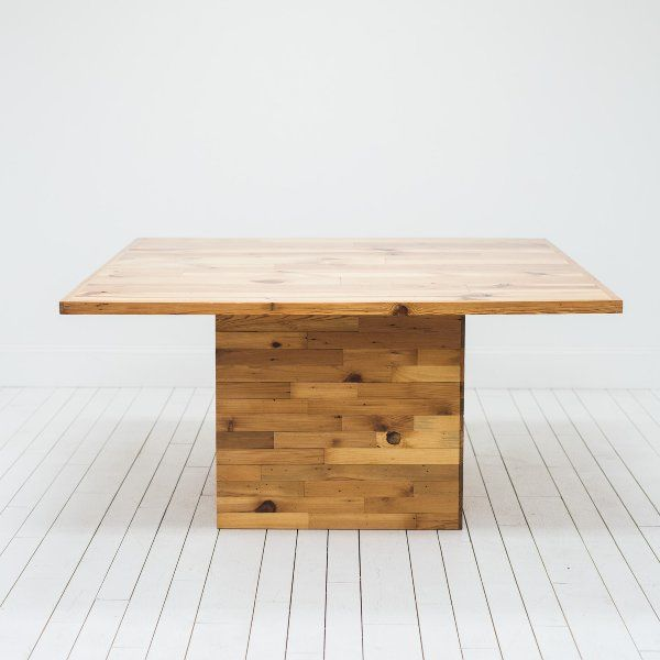 Reclaimed Wood Table L Square Wood Table L Modern Farm Table L Birch - Farm table austin