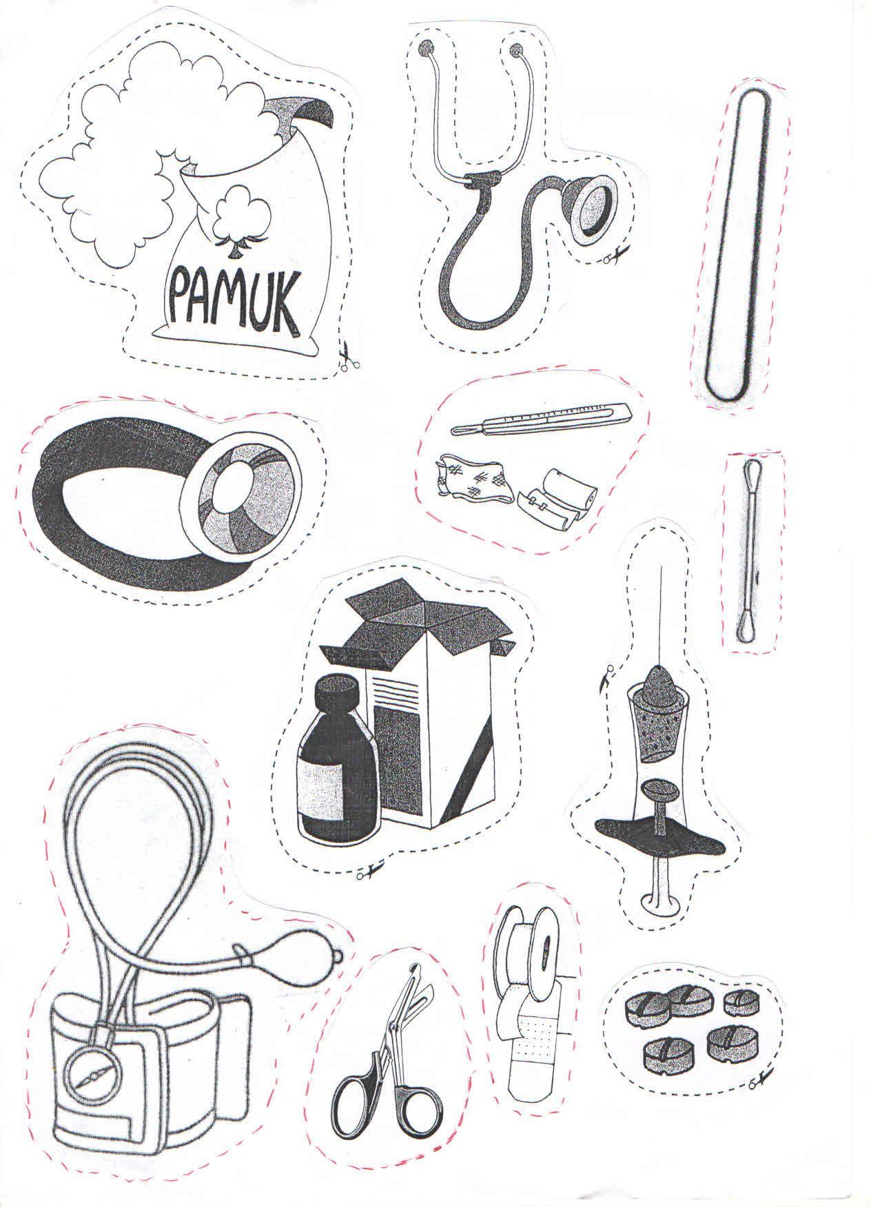 Ilk Yardım Malzemeleri çizim Boyama Crafts For Kids Preschool