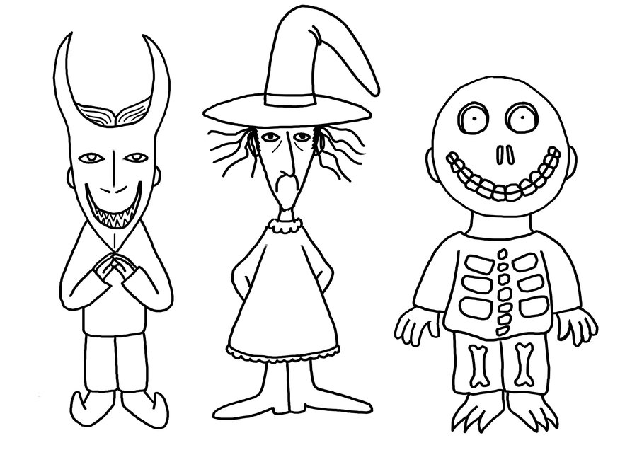 Shock Child Character Coloring Page Nightmare Before ...