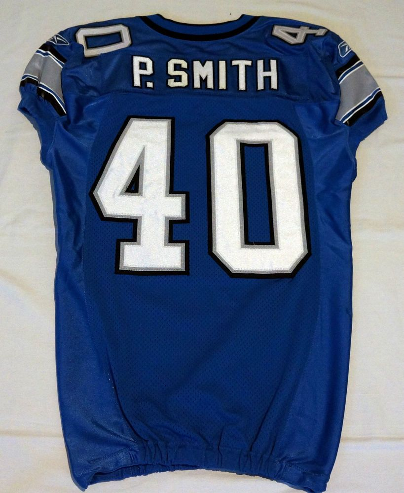 fb4c13e83f6 40 Paul Smith Authentic Game Issued/Player Worn Detroit Lions Jersey ...