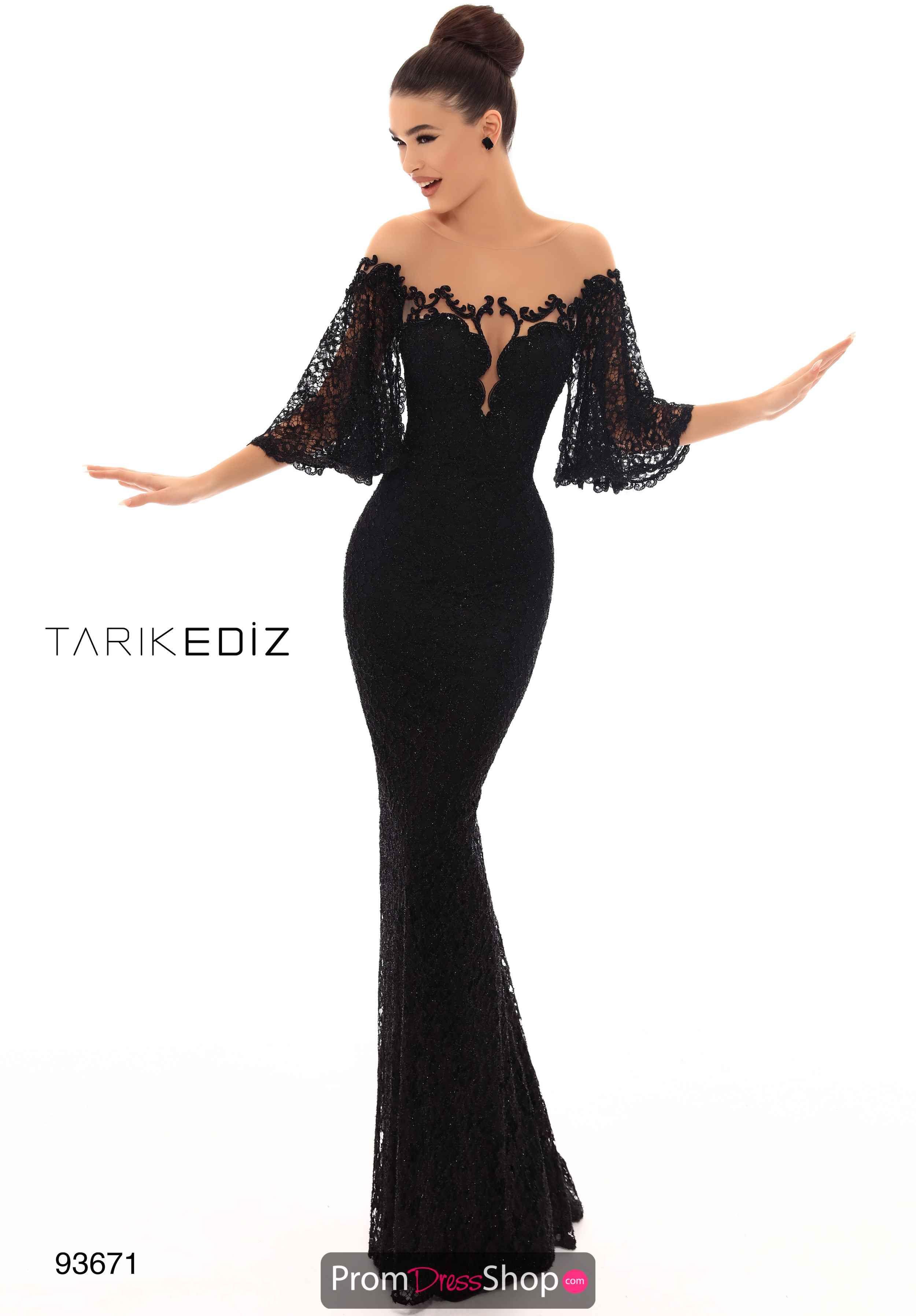 Tarik Ediz Fitted Beaded Dress 93671