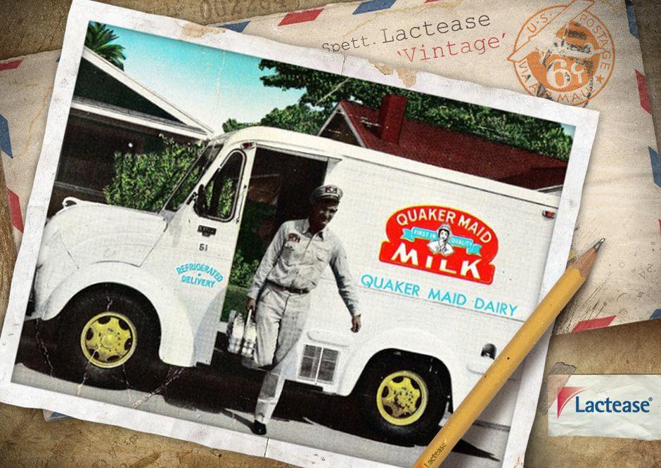 La figura del #milkman è caratteristica di tutta la prima metà del secolo scorso: con il suo furgoncino andava di casa in casa per consegnare il #latte a #domicilio. #LacteaseVintage