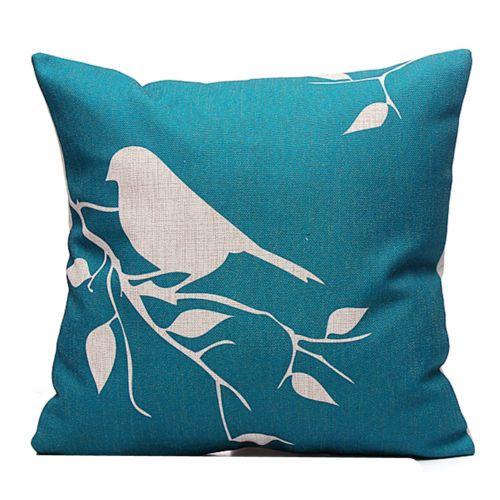 d tails sur arbre oiseau housse de coussin taie d 39 oreiller. Black Bedroom Furniture Sets. Home Design Ideas