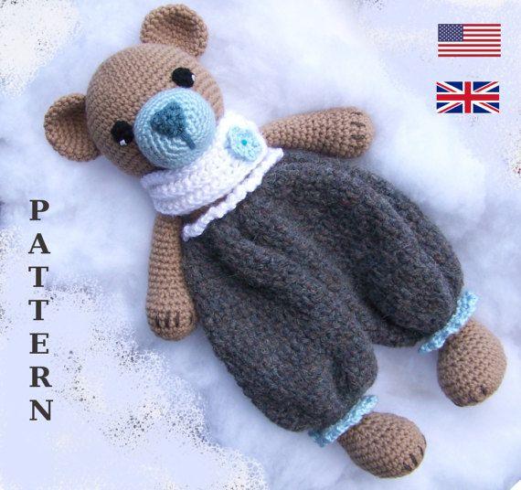 Crochet Bear Pattern-Crochet Rag Doll Bear Pattern-Amigurumi Bear-DIY Crochet Toy-Stuffed Toy Animal Tutorial-Snuggly Bear Crochet Pattern #crochetbear