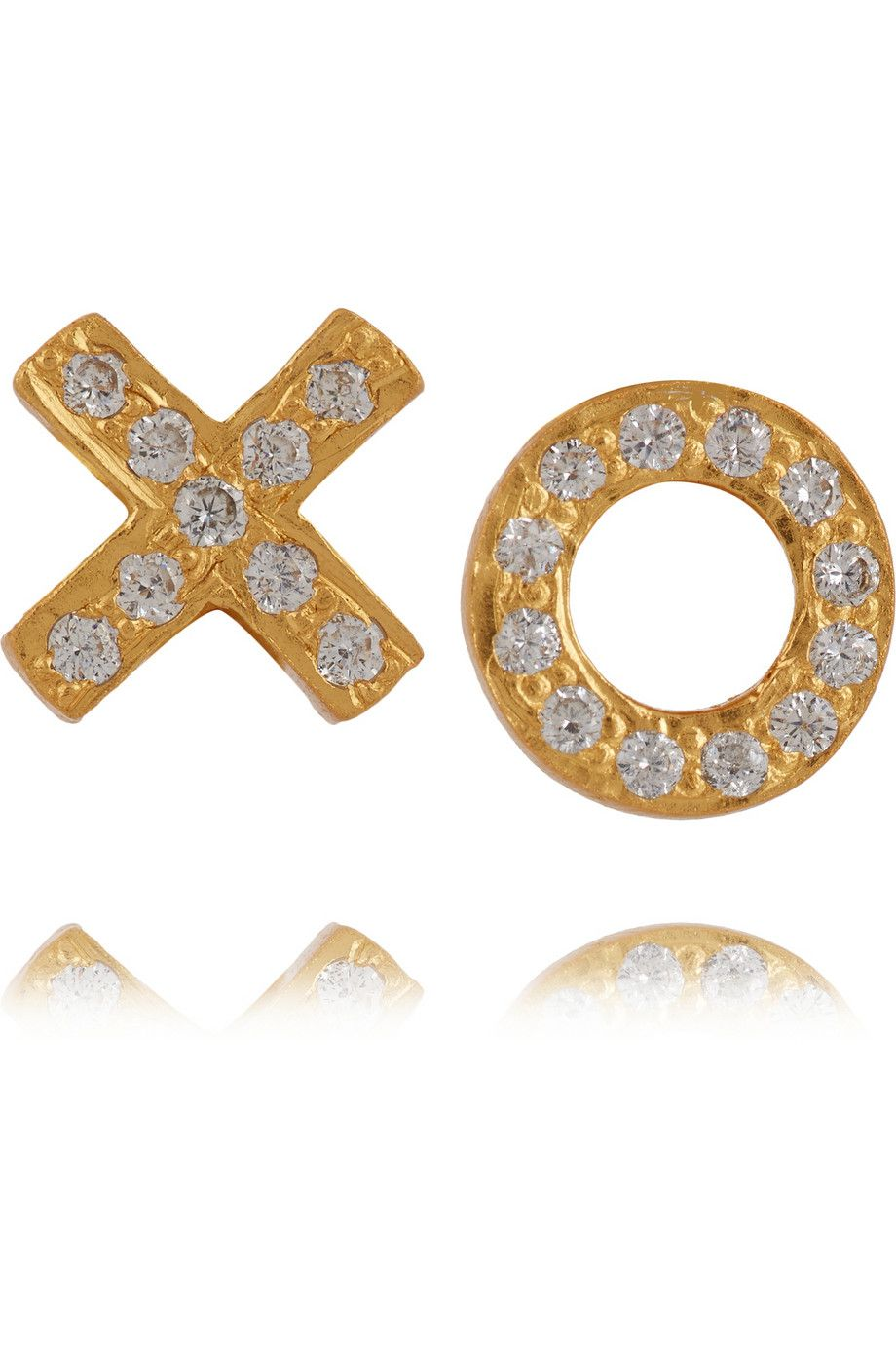 KeviaGold-plated cubic zirconia earrings