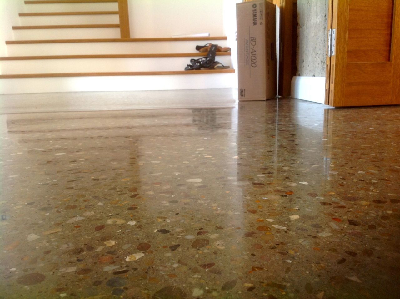 Charming Design Of Polished Concrete Floors To Decorate Indoor House With Natural Stones Concrete Floors Polished Concrete Concrete