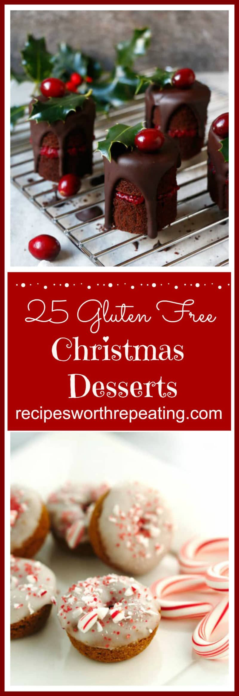 25 Gluten Free Christmas Desserts is part of Christmas dessert Healthy - 25 Gluten Free Christmas Desserts that are guaranteed crowd pleasers for the holidays! Cookies, Brownies, Cake, Apple Crisps, meringues, truffles and fudge!
