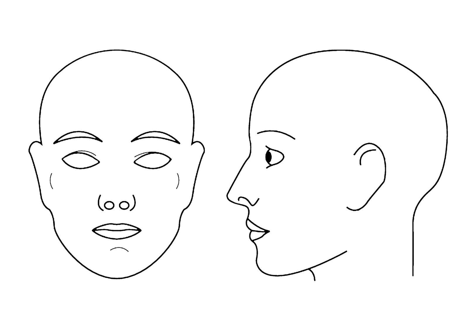 Blank Face Chart Profile Girl