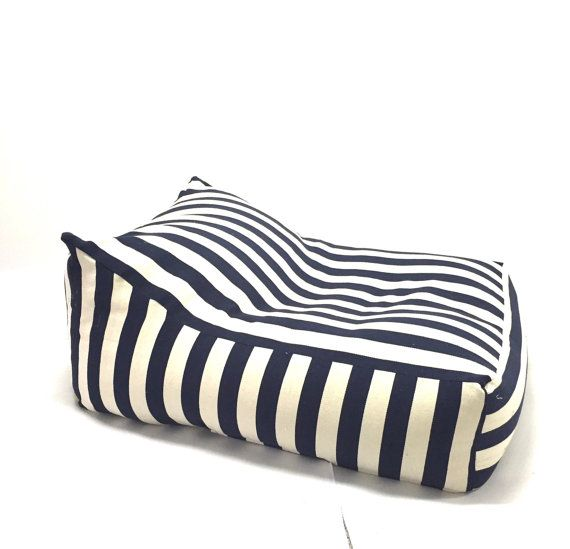 Adult Bean Bag XL Beanbag Modern Design White Navy Blue Linnen Color Outdoor Kids