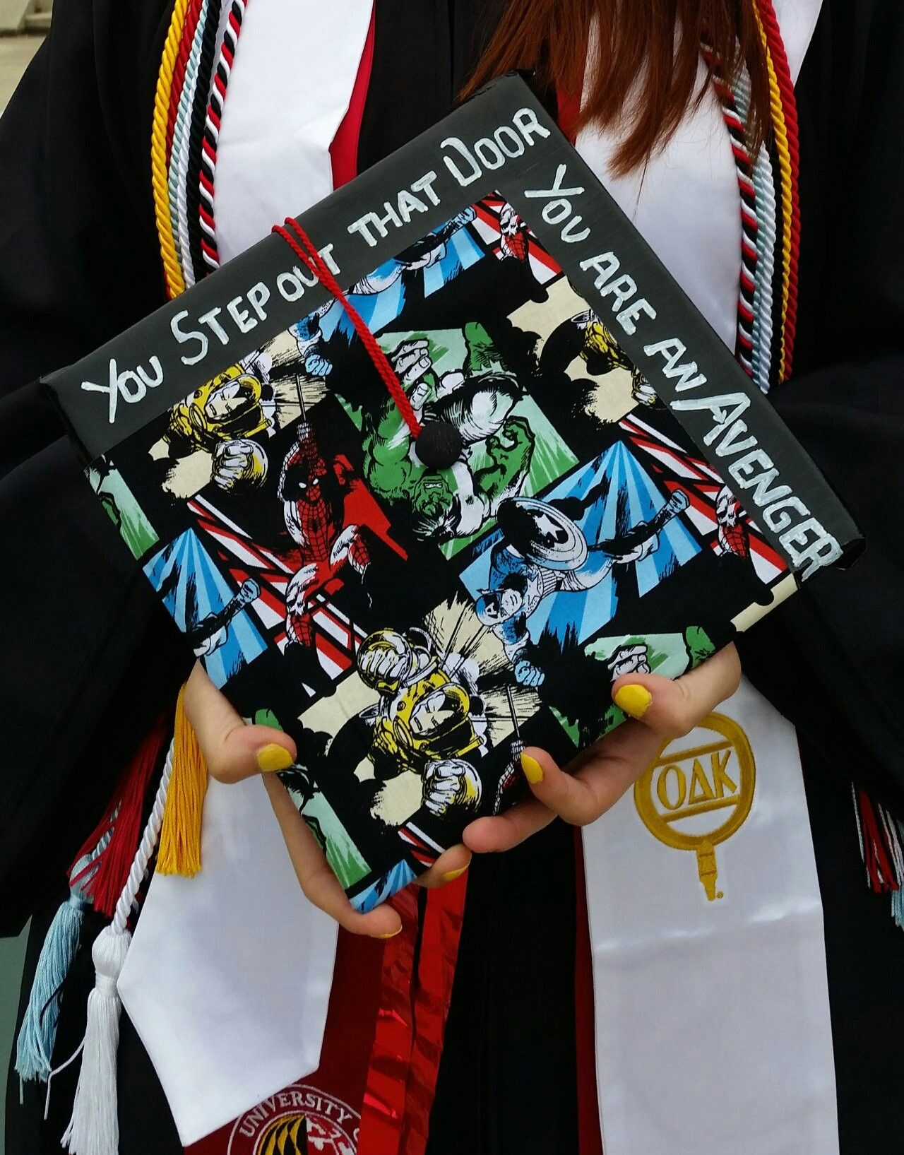 084c6a36371 Avengers themed graduation cap