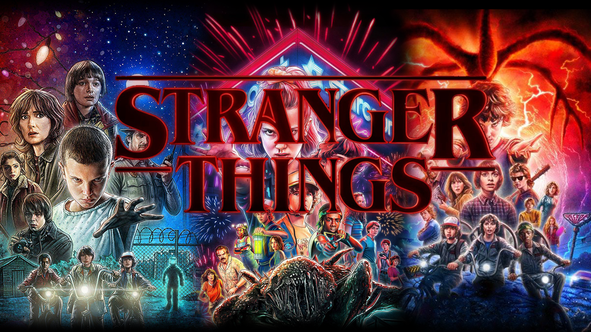 Stranger Things S1 S2 S3 1920x1080 Heaven Wallpaper Stranger Things Wallpaper Wallpaper