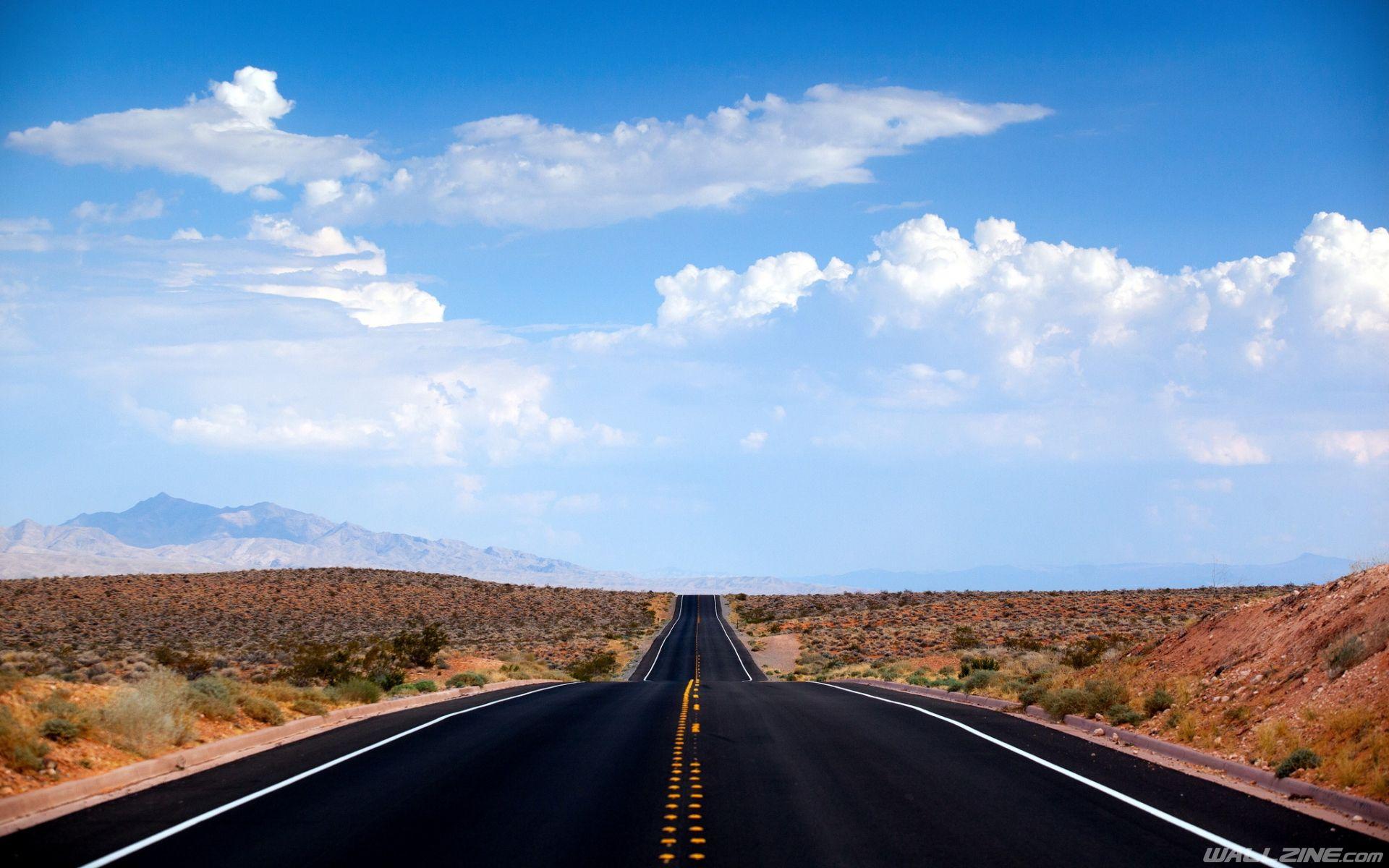 Desert Road Nevada Wallpaper