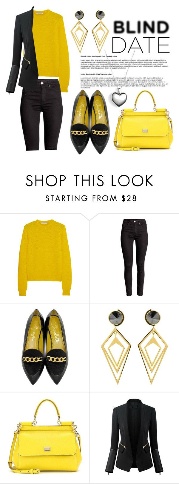 """""""Blind Date"""" by laura-wild-1 ❤ liked on Polyvore featuring J.W. Anderson, Charlotte Olympia, Sarah Magid, Dolce&Gabbana, Chicsense and Pandora"""