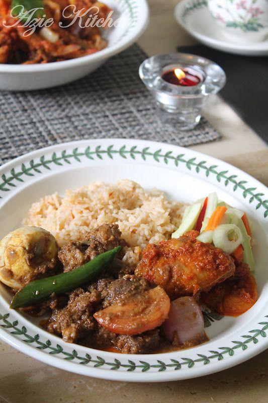 Azie Kitchen Nasi Tomato Kukus Sajian Hari Minggu Indian Food Recipes Food Asian Recipes