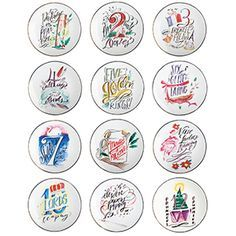 mary martha exclusive lindsay letters 12 days of christmas plates 16 each or 126 for the set wwwmymaryandmarthacommara