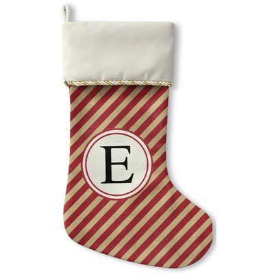 the holiday aisle christmas stocking letter e