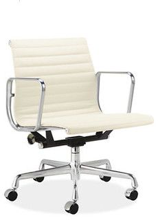 Beau Eames Aluminum Management Group Leather Chair   Modern   Task Chairs     By  Room U0026