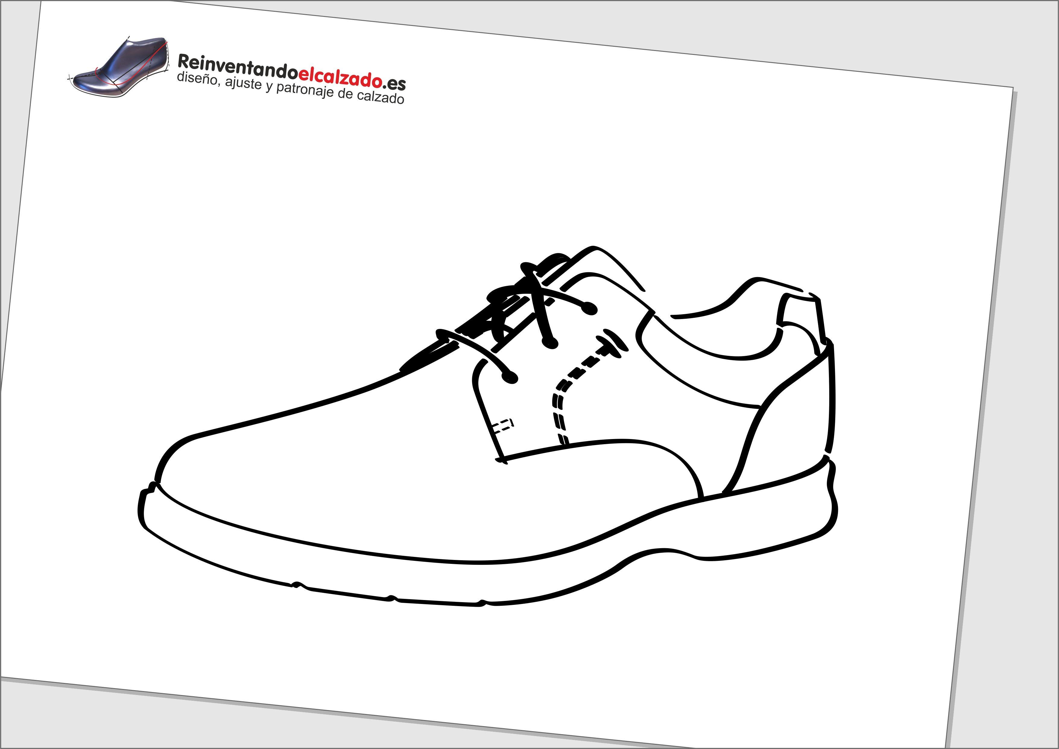 99e35f66 Aprende a realizar el boceto de un diseño de un zapato blucher de  caballero. Esto