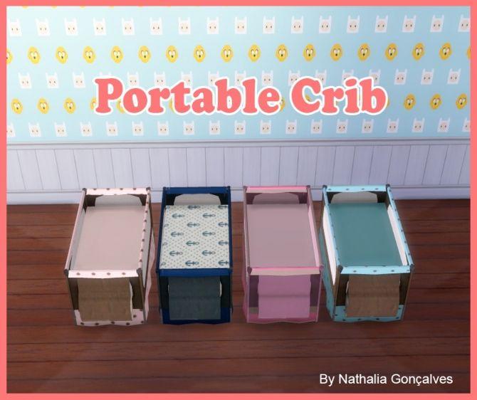 portable crib at nathalia sims via sims 4 updates