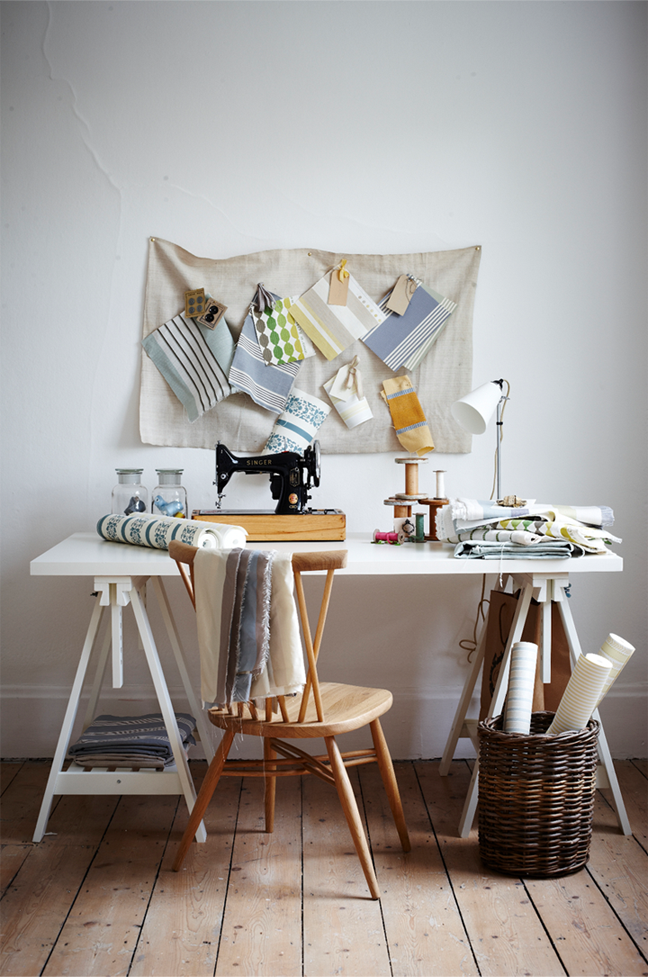 A sewing table using IKEA's FINNVARD trestles | 79 Ideas - Spring Inspiration by Joanna Henderson