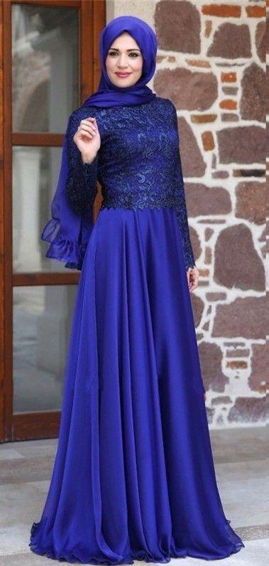 763bdc34871 2016 Long Sleeves Evening Gowns Muslim Arabic Chiffon Formal Long Party  Dresses