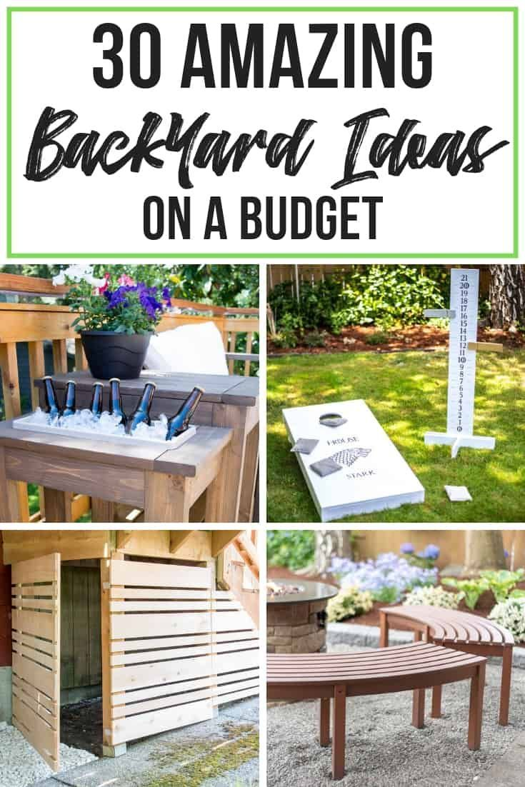 These backyard ideas on a budget are amazing! From patios to playsets, you'll find…