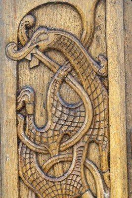 Stock photo in viking wood carving vikings wood carving