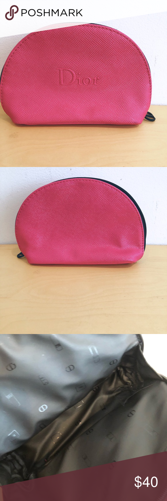 CHRISTIAN DIOR Hot Pink Makeup Pouch Makeup pouch, Pouch