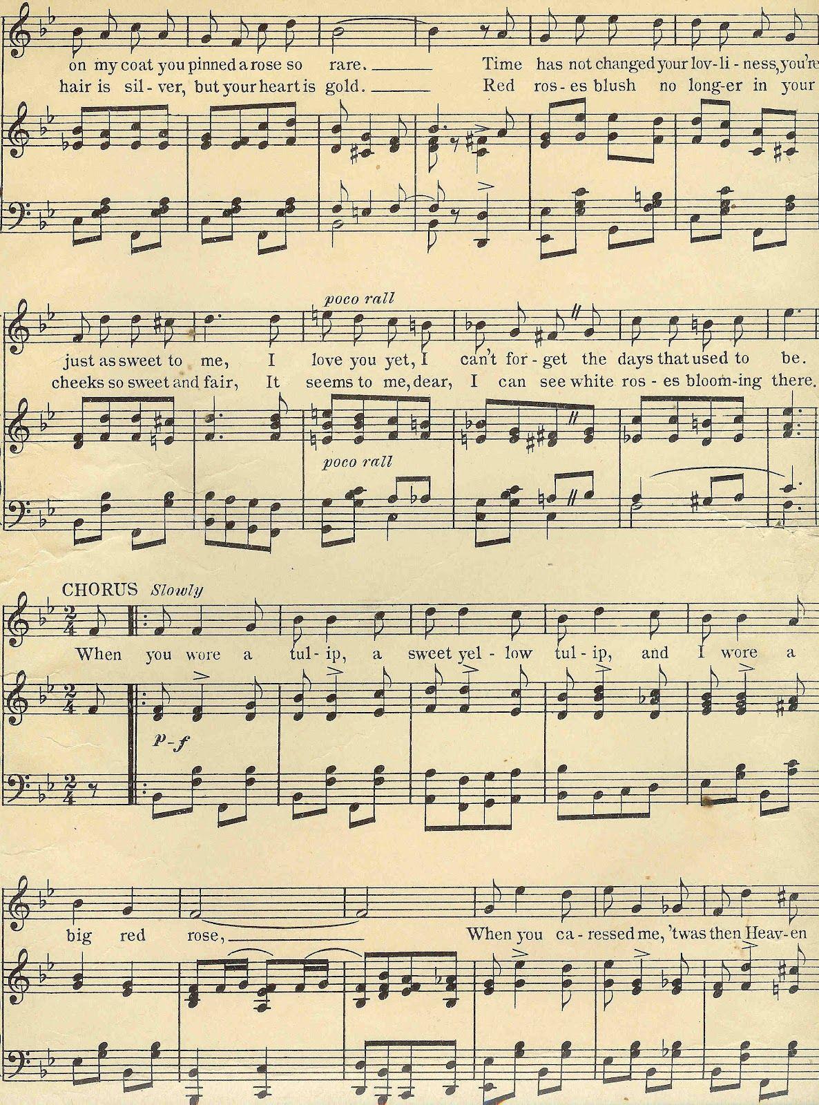 Digital Background Of Sheet Music Vintage Sheet Music Clip Art