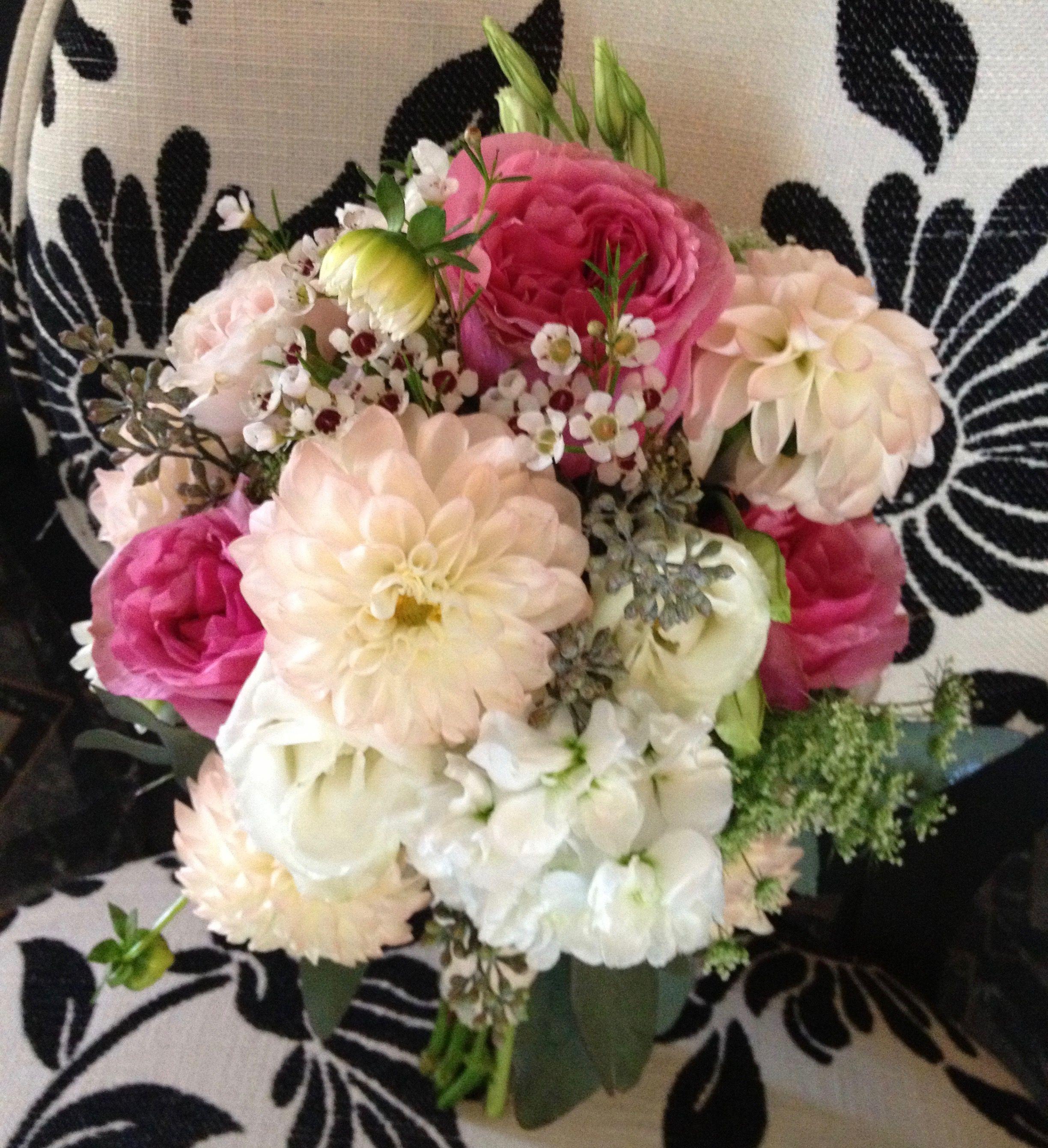 Dahlias garden roses wax flower bouquet by alta fleura bridal dahlias garden roses wax flower bouquet by alta fleura izmirmasajfo