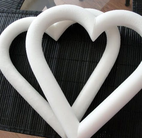 8 White Styrofoam Heart Wreath Form 2 99 Each 6 For 2 20 Each Heart Wreath Heart Wreath Form Felt Heart